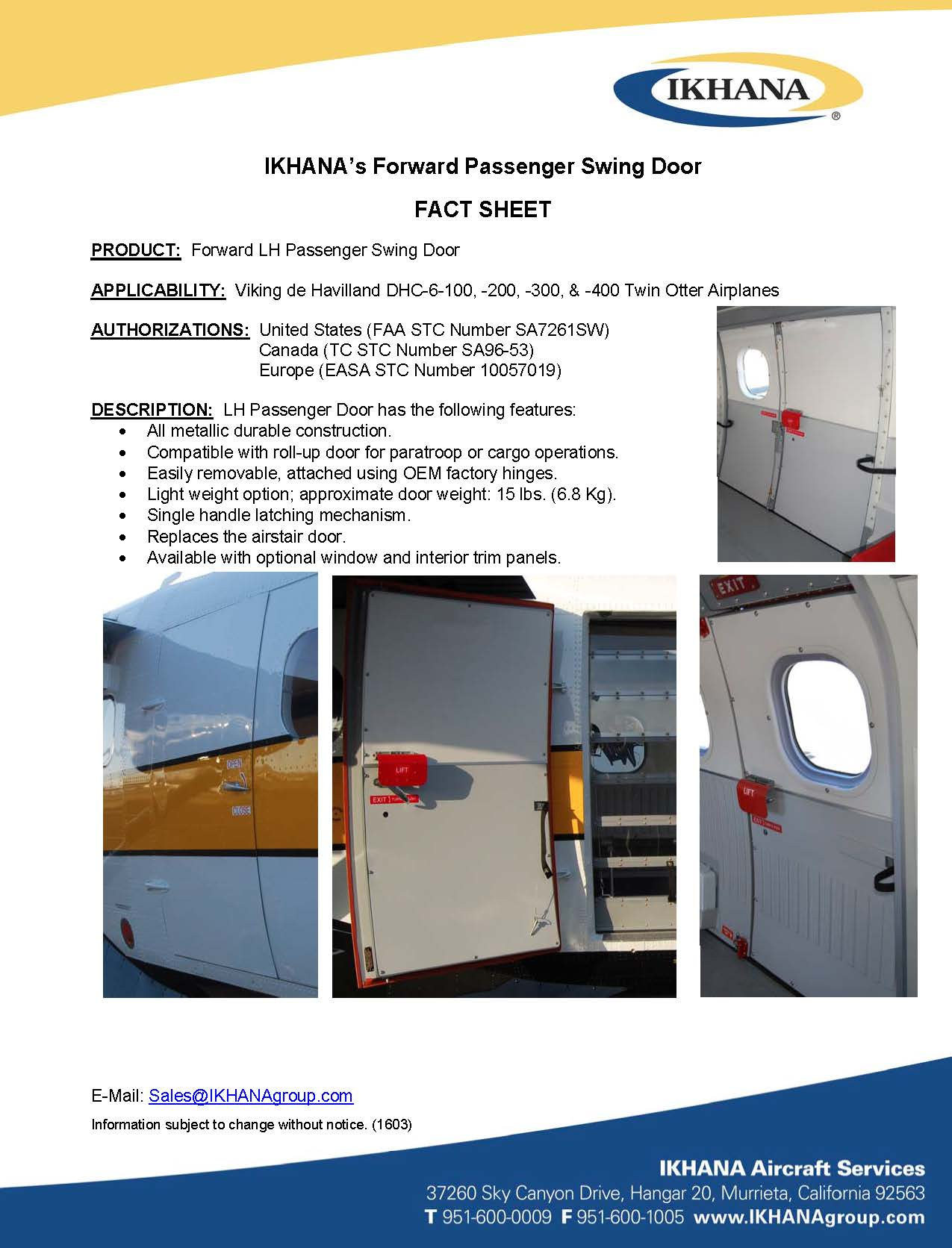 IKHANA's Forward Passenger Swing Door